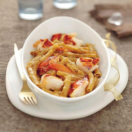 gratin de macaronis au homard recette par anne lafond paris kitchen club. Black Bedroom Furniture Sets. Home Design Ideas