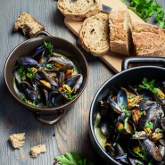 Moules au curry thaï